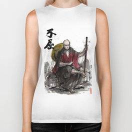 Samurai Captain Picard Parody/Crossover with Japanese Calligraphy Biker Tank