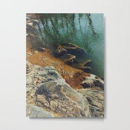 Orange Shore Metal Print