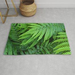 green ferns Rug