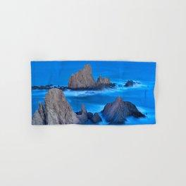 Blue sunset at the singing Mermaid Reef Hand & Bath Towel