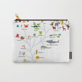 Evolution in biology, scheme evolution of animals on white. children's education back to scool Carry-All Pouch