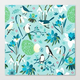 Finally Easter! [blue'n rose] Canvas Print