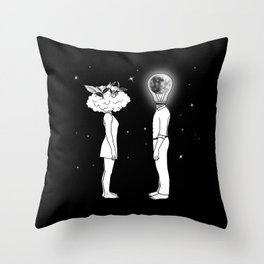 Day Dreamer Meets Night Thinker Throw Pillow