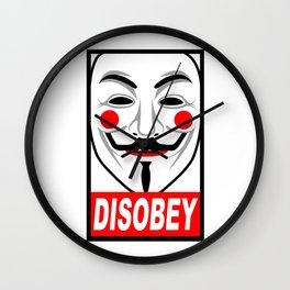 Disobey V Wall Clock