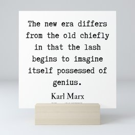 52  | Karl Marx Quotes | 190817 Mini Art Print