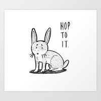 Hop to it Art Print