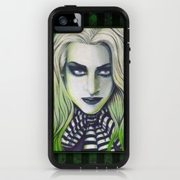 Ghoul Gothic Green Portrait iPhone Case