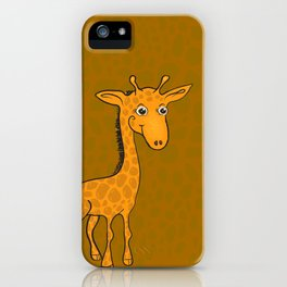 Giraffe - Sepia Brown iPhone Case