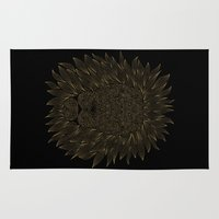 lannister Area & Throw Rugs featuring lion / black by Anna Grunduls