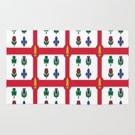 Flag of montreal -montrealais,montrealer,montreales,quebec, canada. Rug