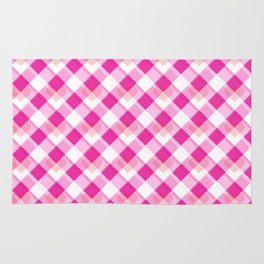 Heart Plaid Pattern Rug