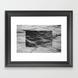 Water on the Rocks Framed Art Print