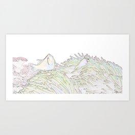 BLEACHED CLOWNS Art Print
