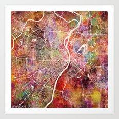 Saint Louis map Art Print