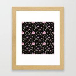Black cats in the night Framed Art Print