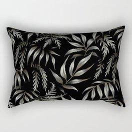 Brooklyn Forest - Black Rectangular Pillow