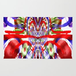Color and lines in space Rug