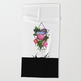 The aggressiveness of roses Beach Towel