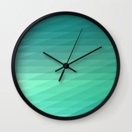 Fig. 043 Mint Green Geometric Diagonal Stripes Wall Clock