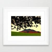 alisa burke Framed Art Prints featuring Burke Mountain Late Afternoon from Darling Hill, Lyndonville by FlatlandersViewOfVT