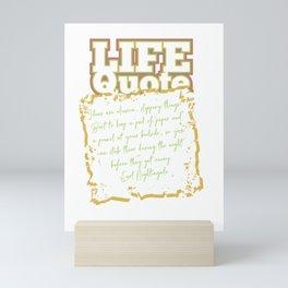 Ideas are elusive/Positive Quote Mini Art Print