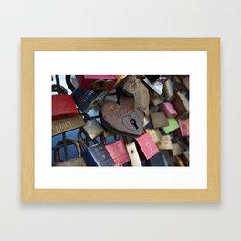 Lock and key Framed Art Print