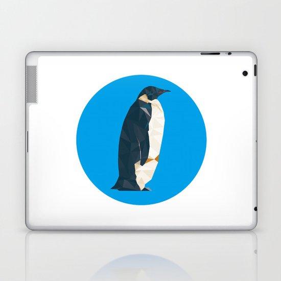 cyan penguin Laptop & iPad Skin