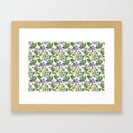 Floral naïf pattern Framed Art Print