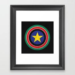 Captain South Sudan 2 Framed Art Print