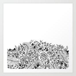 edge of the meadow Art Print