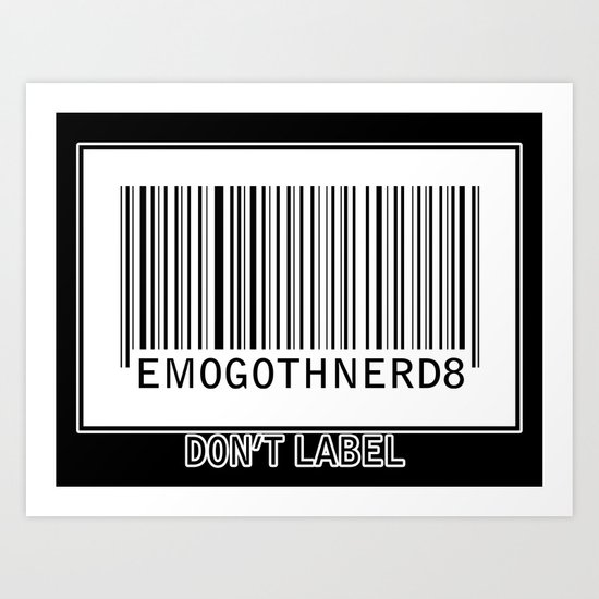Labeling Art Print