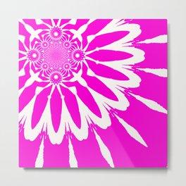 The Modern Flower Fuchsia Pink Metal Print