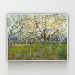 Orchard with Blossoming Apricot Trees by Vincent van Gogh Laptop & iPad Skin