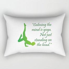 Yoga quote Rectangular Pillow