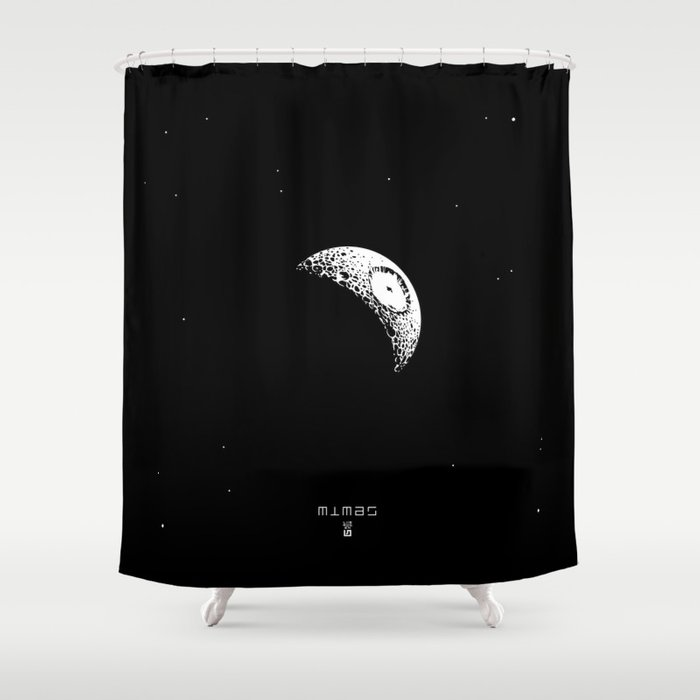 MIMAS - The Real Death Star Shower Curtain by 7115 | Society6