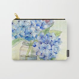 Blue Hydrangea, Still Life Carry-All Pouch