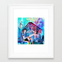women Framed Art Prints featuring Women by Joe Ganech