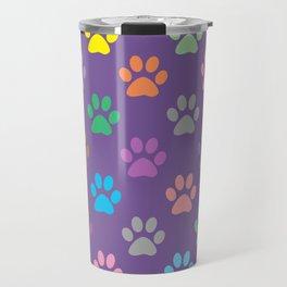 Colorful paws pattern Travel Mug