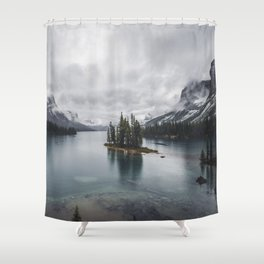 Maligne Lake Jasper Alberta Shower Curtain