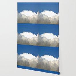 Grey Clouds Blue Sky Wallpaper
