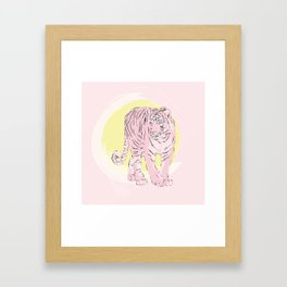 Sunny Tiger Framed Art Print