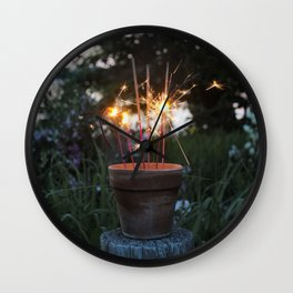 Let Your Creative Sparks Grow Wall Clock