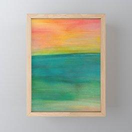 Ocean Sunset Series, 4 Framed Mini Art Print
