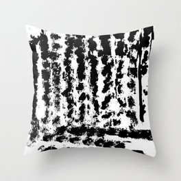 Black tyre tracks Throw Pillow