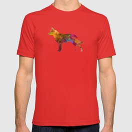 Australian Cattle Dog in watercolor T-shirt