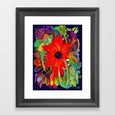 Beautiful flower art pattern decorative Framed Art Print