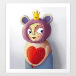 She Valentine Art Print