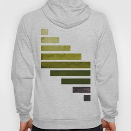 Olive Green Minimalist Mid Century Modern Inca Watercolor Stripes Staggered Symmetrical Pattern Hoody