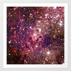 Galaxy : Coral Gold Eagle Nebula Art Print