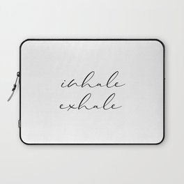 Inhale Exhale, Print, Motivation Wall Decor, Printable Art, Typography, Motivation Wall Decor Laptop Sleeve
